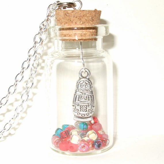 Russian Doll Bottle Necklace