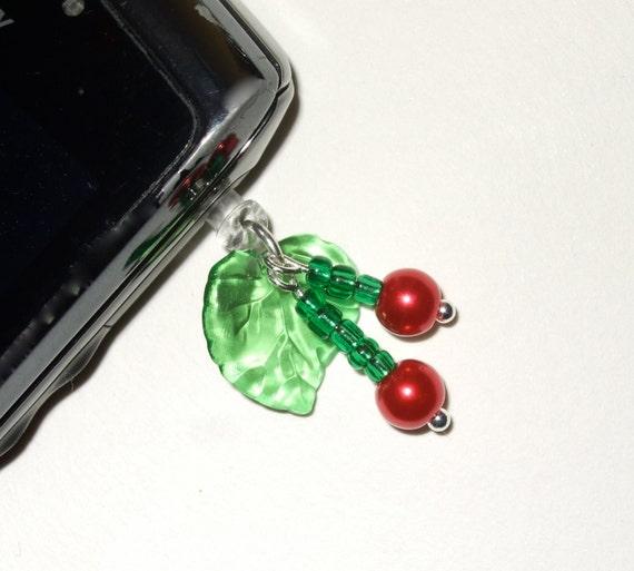 Cherries Phone Jack Charm