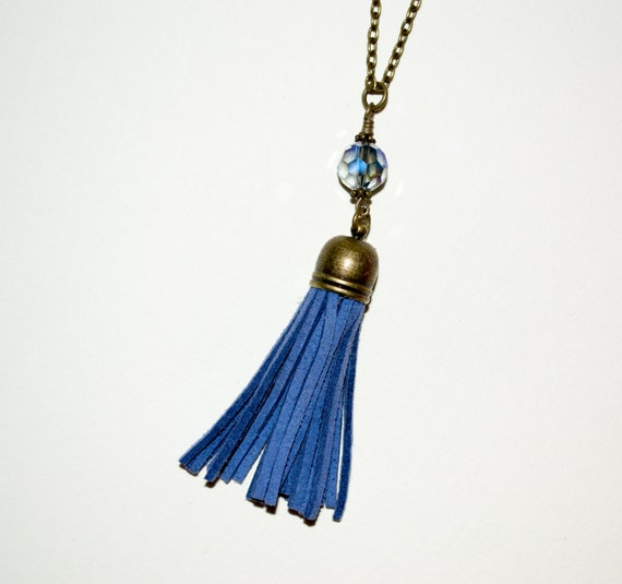 Tassel Necklace - Blue