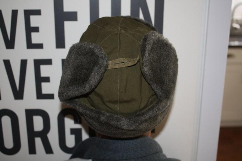ac1d8f466 Wool Ear Flap Hat // Size Small Winter Hat // Ushanka Military Hat from  Czech