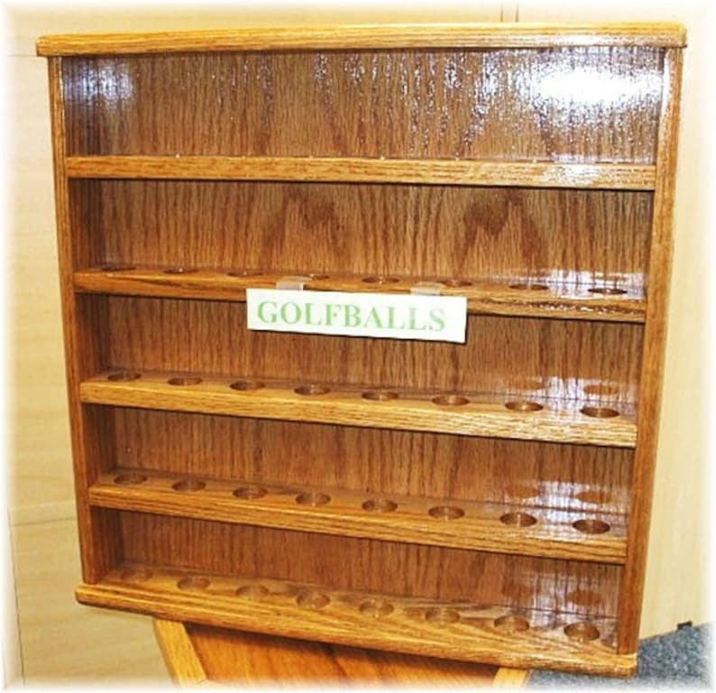 Golf Ball Oak  Display Cases FREE SHIPPING image 0