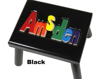 "BLACK Name Puzzle Stools (""FREE"" Shipping)"