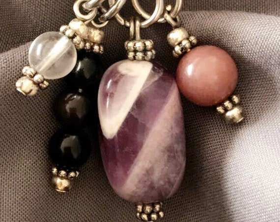 Empath Protection, Necklace, Empath Jewelry, HSP Necklace, Empath Gift, Gifts for Her, Temple Adornment, Amethyst Necklace