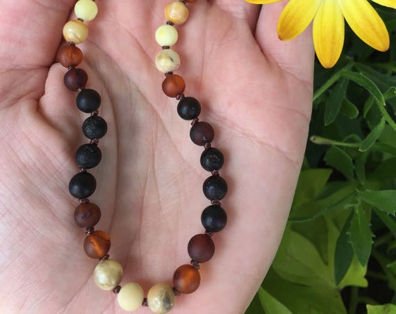 Boy Baltic Amber Necklace, Teething Necklace, Teething Anklet, Toddler, Adult Necklace, Unisex Necklace, Mens Amber Necklace, Nature Boy