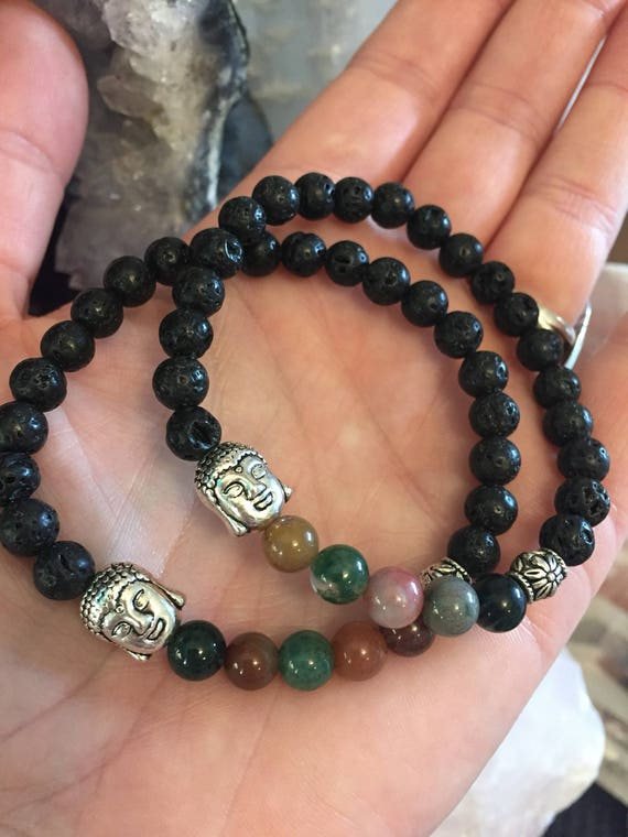 Buddha Bracelet, Yoga Bracelet, Essential Oil Diffuser Bracelet, Yogi Gift, Yoga Jewelry, Zen Bracelet, Zen Jewelry