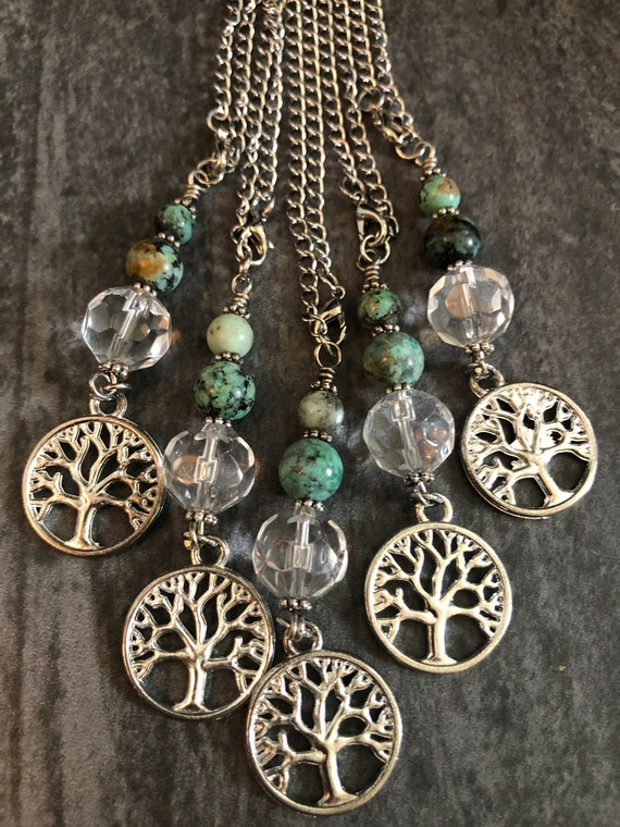 Tree of Life Sun Catcher, Rearview Mirror Charm, Car Crystal, Family Tree Charm, Light Catcher, Templeadornment