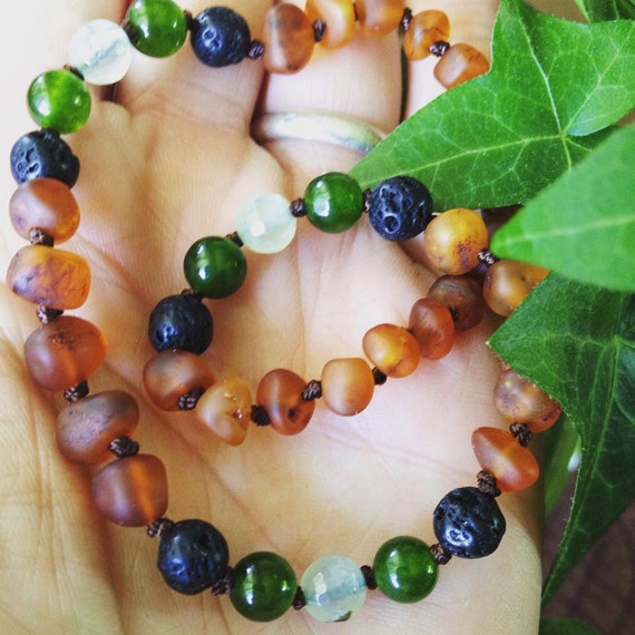 Amber Teething Necklace, Baltic Amber Necklace, Raw Amber Necklace, Teething Anklet, Toddler Neckalce, Adult Amber Necklace, Tree Hugger