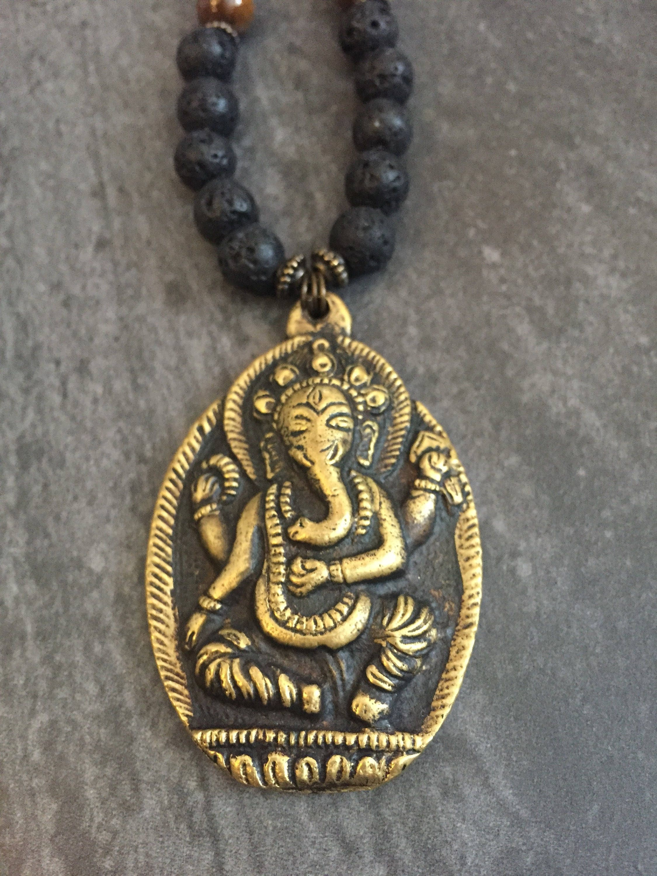 soothi pendant artisan ganesh boho yoga indian ganesha elephant img necklace products