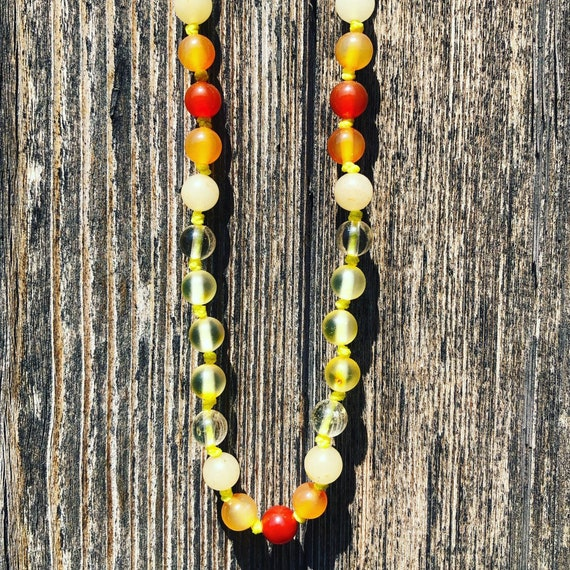 Raw Baltic Amber Necklace, Adult Amber Necklace, Templeadornment, You Are My Sunshine, Gift for Her