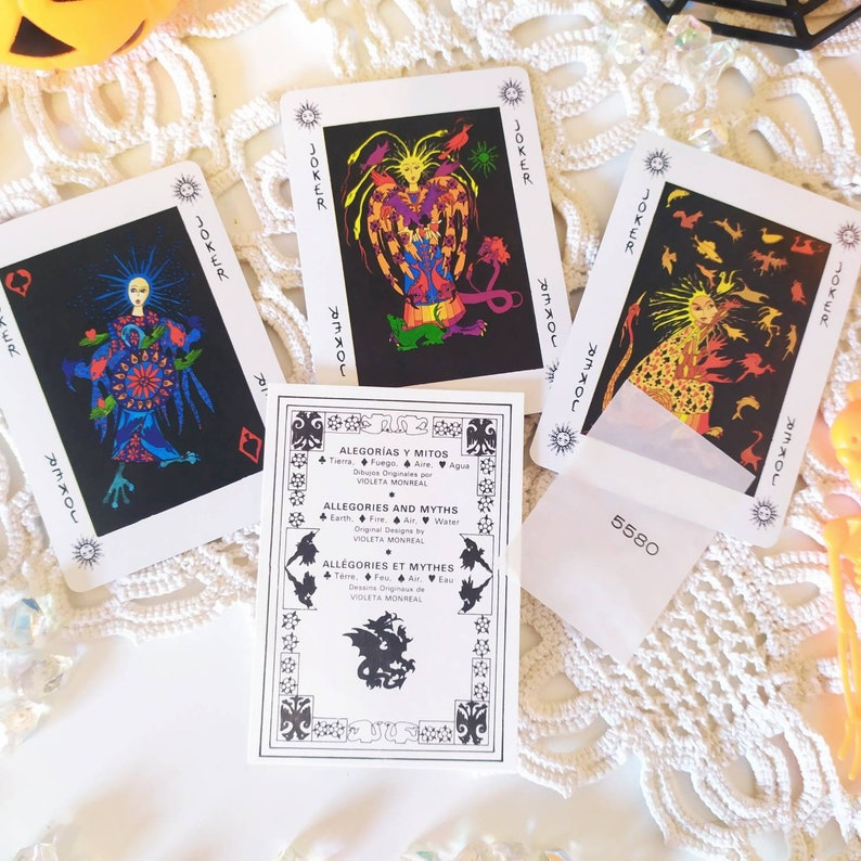Fortune Telling Cartomancy Vintage Playing Cards Fournier 1990s Allegories And Myths Playing Cards