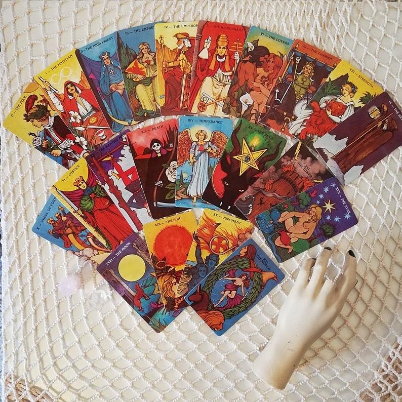 Vintage 1970s Morgan Greer Tarot Cards / 1970s Tarot Cards / Vintage Tarot  Cards / Fortune telling / Tarot Reader / Morgan Greer / Astrology