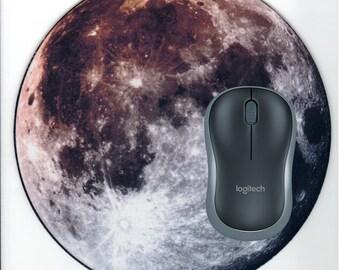 Moon Mouse pad, Moon Office Desk Accessory, Moon Desk decor, Moon Electronics pad, Full Moon mousepad
