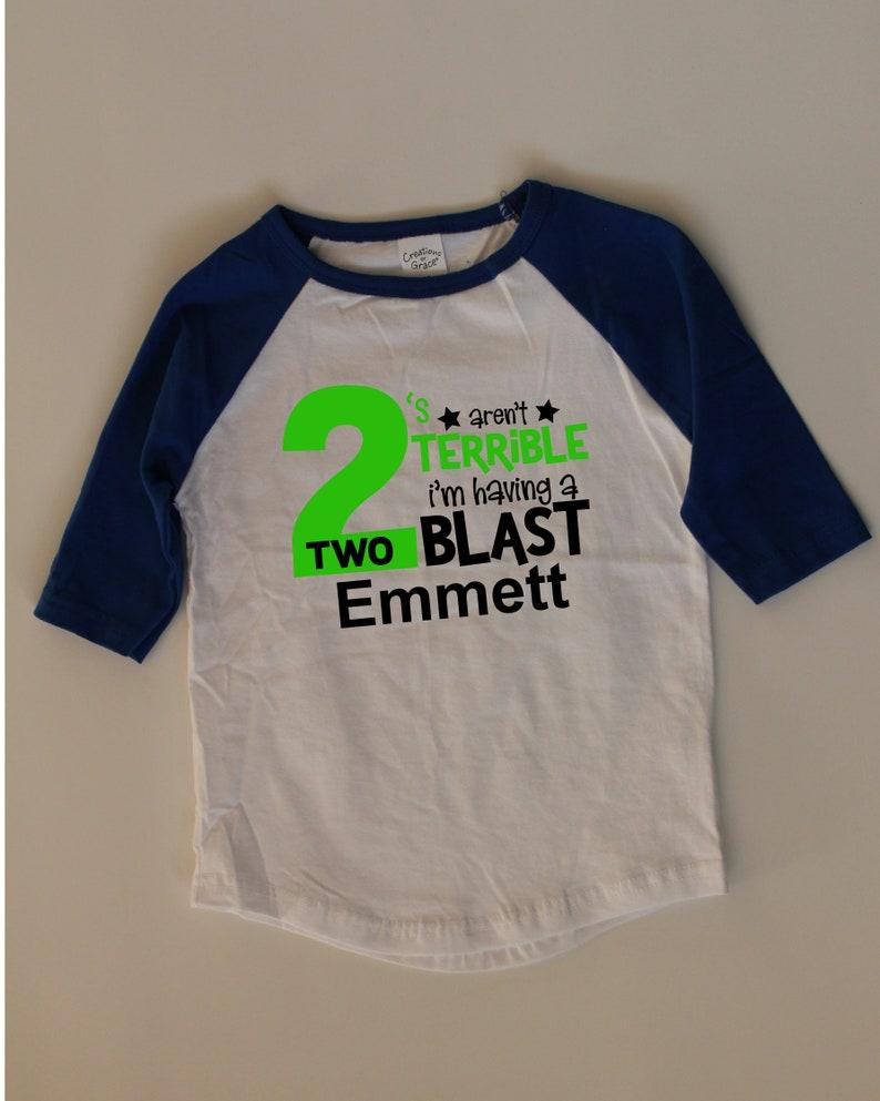 2nd Birthday Shirt Personalized Boys Toddler