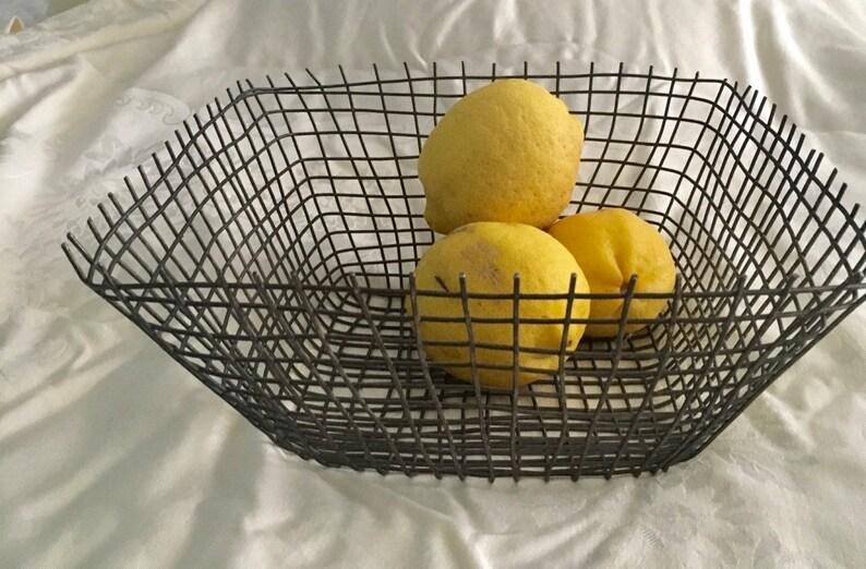Wire square basket kitchen , bathroom decor storage basket plant holder  garden decor