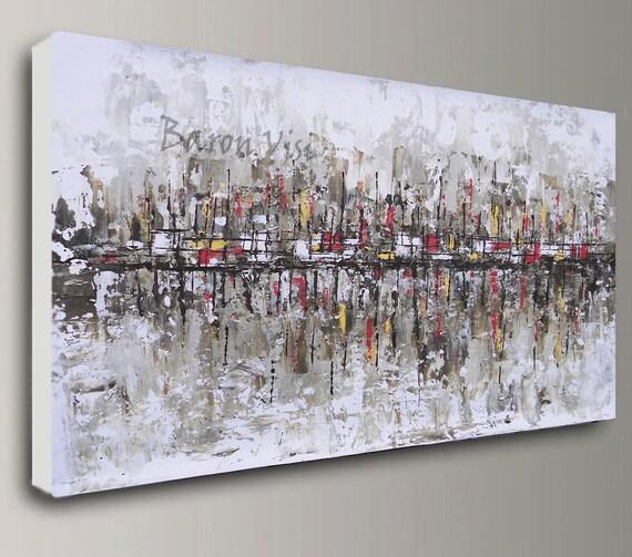 Braun Beige Abstrakte Malerei Acryl Malerei Kunst Gemälde | Etsy