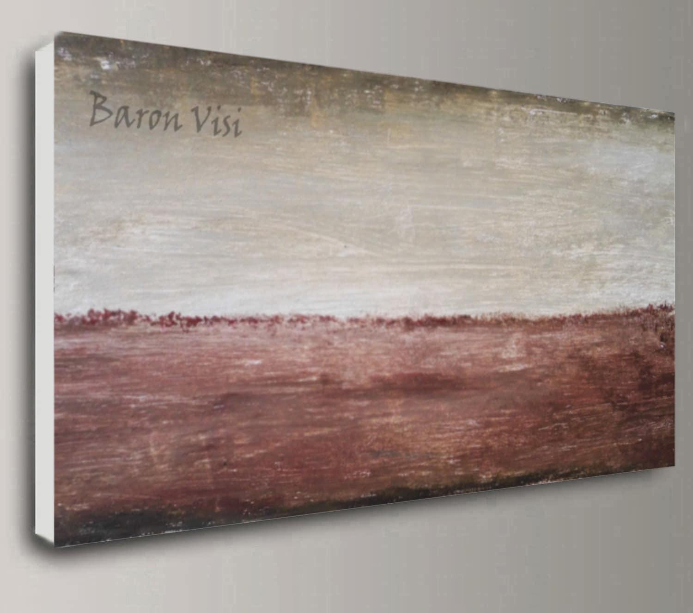 braun Beige abstrakte Kunst Malerei Acryl großen Leinwand   Etsy