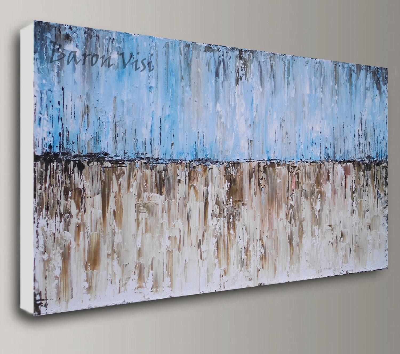 blau braun Malerei abstrakte Malerei Acryl Kunst Malerei   Etsy