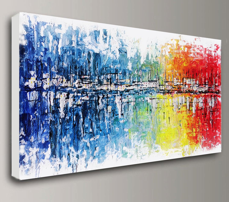 abstrakte Malerei Acryl-Malerei Kunst Gemälde Öl großen   Etsy