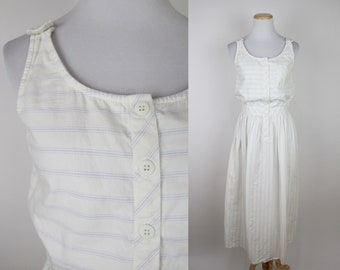 Vintage 90/'s pastel lavender fitted minimalist dress  Size XS  S