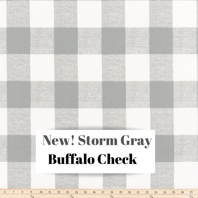 Options for Cotton and Blackout Lining Gray and White Buffalo Check Curtains Rod Pocket
