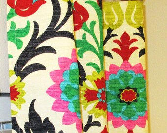 Waverly Santa Maria Desert Flower Curtains Rod Pocket - 84 96 108 or 120 Long by 24 or 50 Wide