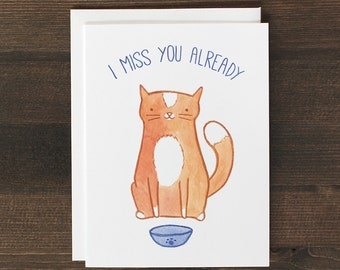 Funny Miss You Cat Card