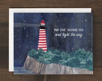 Sympathy Condolences Card Lighthouse