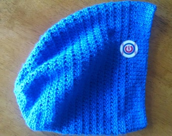 87c6967332b Crocheted Chicago Cubs Slouchy Hat