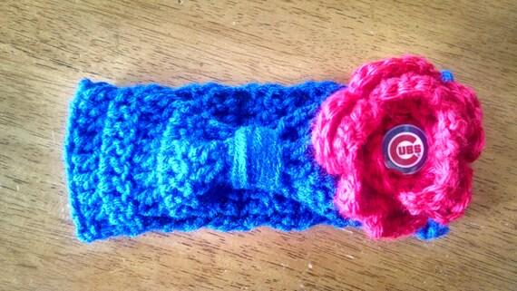 Crocheted Chicago Cubs Baby Headband  4eab799374e