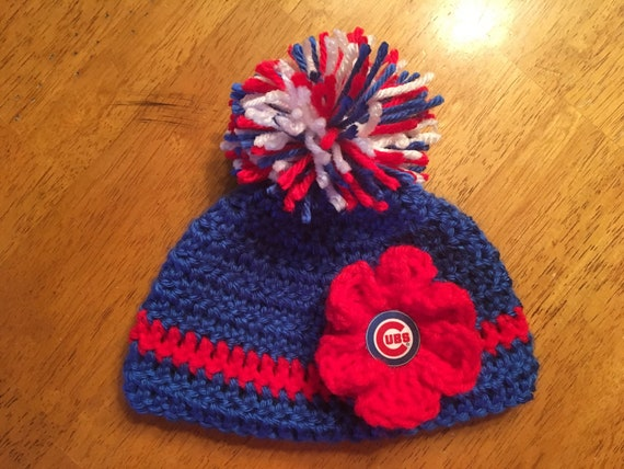 99309c0335a Crocheted Baby Chicago Cubs Hat