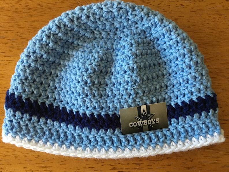 ed8772e39cbdf Crocheted Dallas Cowboys Baby Hat