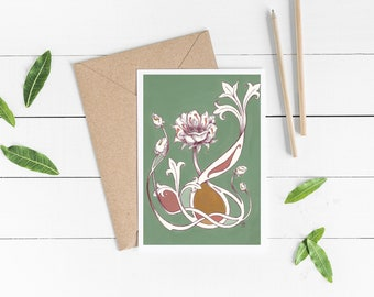 GREETING CARD: Flower Design 2