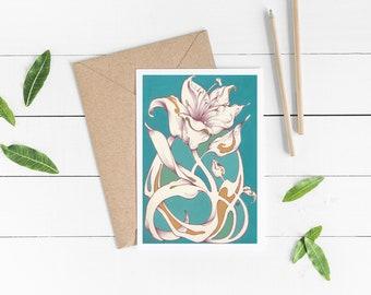 GREETING CARD: Flower Design 3