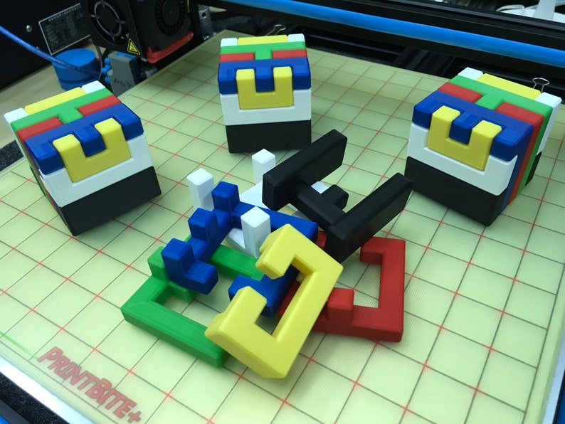 Digital STL files for PIP4 puzzle cube  3D printer ready image 0