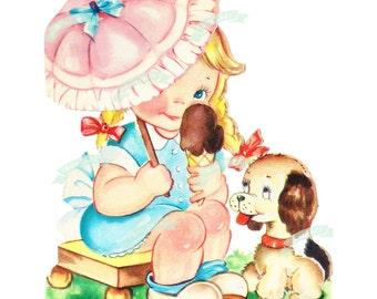 Vintage Digital download, Vintage greeting card, Printable, Birthday Cards, Scrapbooking, Vintage collage sheet, Valentines
