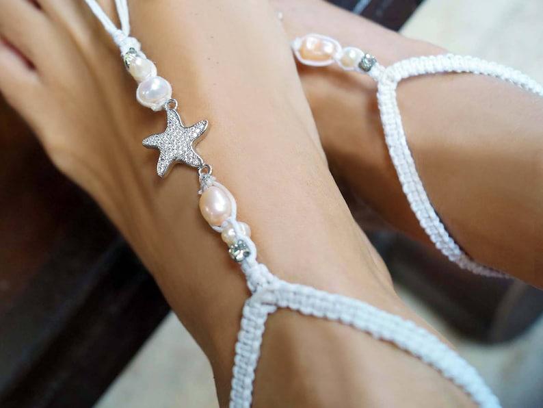 Beach Wedding Shoes Starfish Barefoot Sandals Wedding Barefoot Sandals 1 Pair Pearl Barefoot Sandal