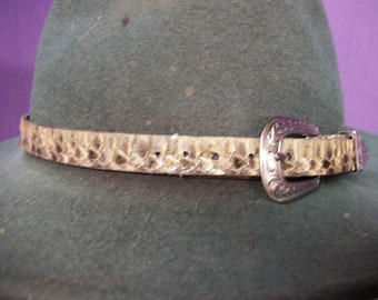620d8181263 1 Real animal tanned western diamond back rattle snake skin Hat Band  taxidermy part