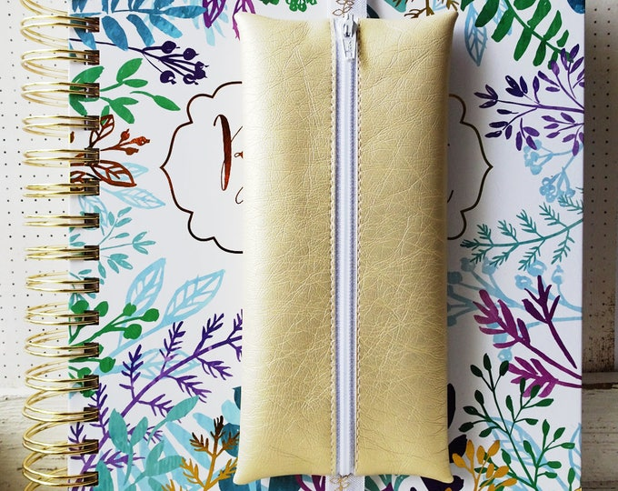 Gold planner pouch | Brilliant Life Planner pouch