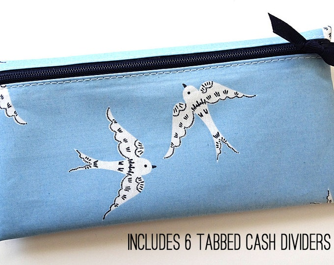 Bird design cash wallet for Dave Ramsey budget