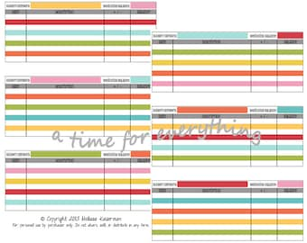 Printable cash envelope system spending logs budget inserts | Rainbow