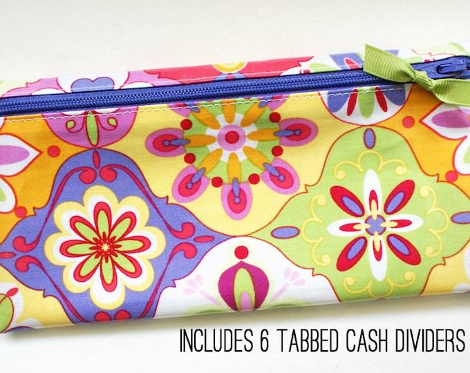 Multicolor slim wallet for cash envelope system