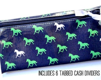Horse-themed cash budgeting wallet