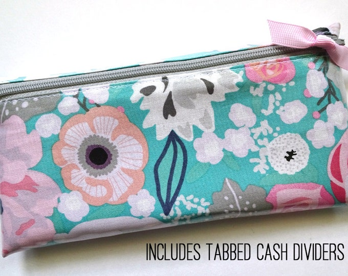 Floral cash wallet for Dave Ramsey budget