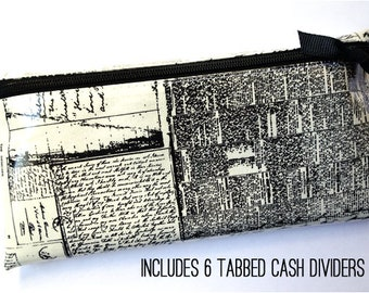 Newsprint envelope wallet