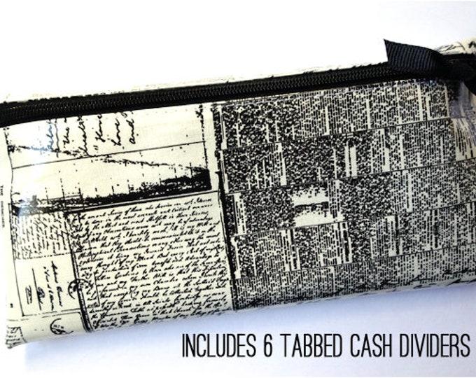 Newsprint envelope wallet
