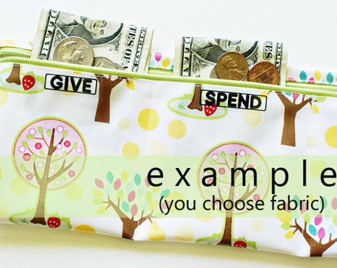 Girls Give Spend Save folding wallet | 3 sections