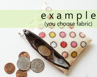 Coin pouch in laminated cotton | choice of fabric