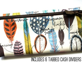 Feather print wallet for Dave Ramsey budget