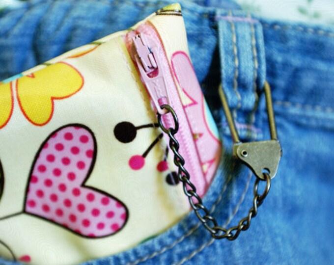 Kids mini chain wallet   stocking stuffer   gift card holder