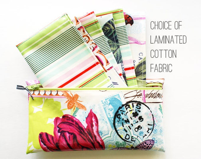 Six cash envelopes in zippered pouch   choice of fabrics